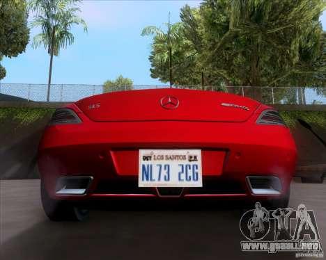 Mercedes-Benz SLS AMG V12 TT Black Revel para la visión correcta GTA San Andreas