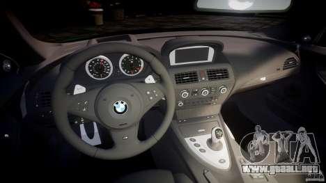 BMW M6 2010 v1.0 para GTA 4 vista hacia atrás