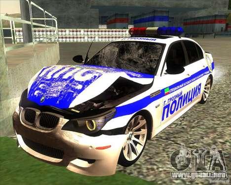 BMW M5 E60 policía para GTA San Andreas interior
