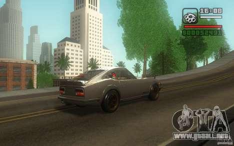 Datsun 240ZG para visión interna GTA San Andreas