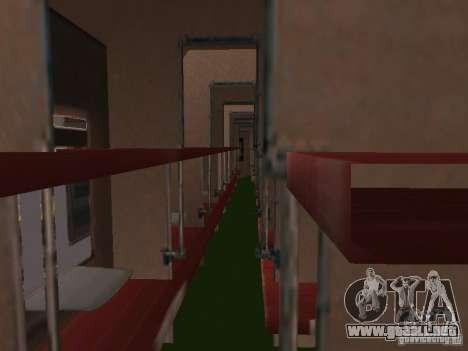 Coche de pasajeros RZD para la visión correcta GTA San Andreas