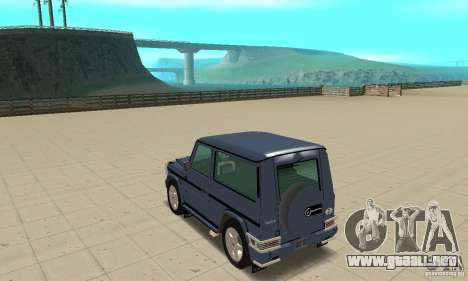 Mercedes-Benz G500 1999 Short [with kangoo v2] para GTA San Andreas vista posterior izquierda