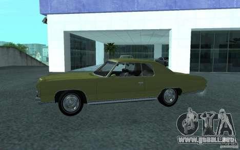 Chevrolet Impala 1971 para la visión correcta GTA San Andreas