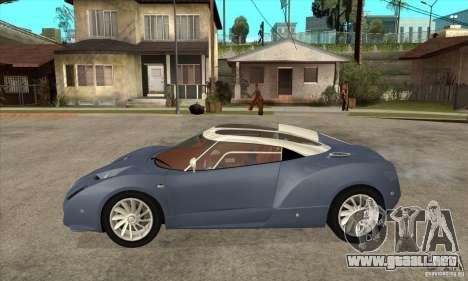 Spyker C12 Zagato para GTA San Andreas left