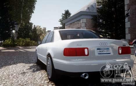 Audi A8 2000 para GTA 4 vista hacia atrás