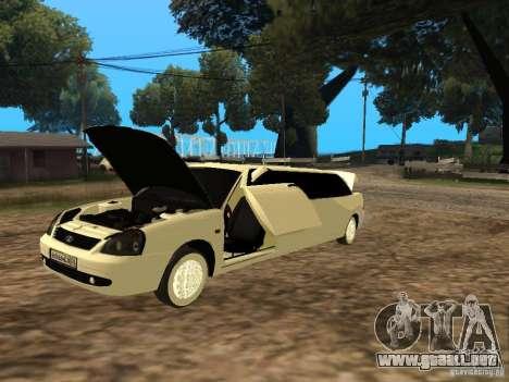 LADA Priora 2170 Limousine para GTA San Andreas vista posterior izquierda