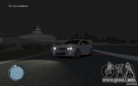 Opel Astra para GTA 4 Vista posterior izquierda
