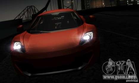 McLaren MP4-12C TT Black Revel para visión interna GTA San Andreas