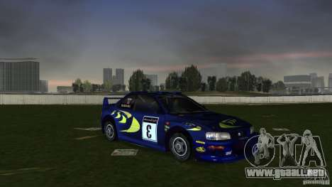 Subaru Impreza 22B Rally Edition para GTA Vice City vista posterior