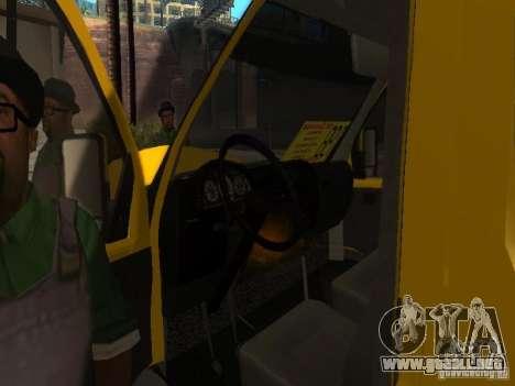 Taxi gacela 2705 para GTA San Andreas vista hacia atrás