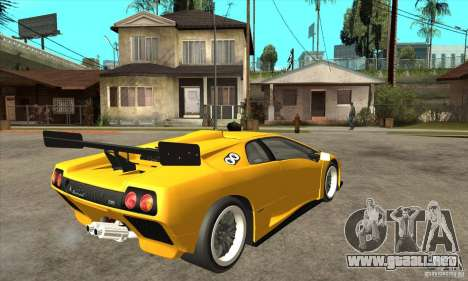 Lamborghini Diablo GT-R 1999 para la visión correcta GTA San Andreas