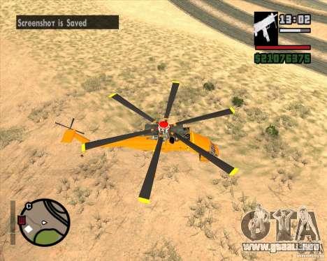 Skylift para GTA San Andreas vista posterior izquierda