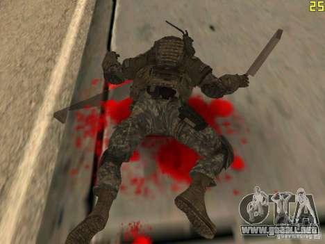 Luchar contra los soldados de CoD: Mw2 para GTA San Andreas quinta pantalla