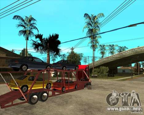 Carro del semi-remolque para vista lateral GTA San Andreas