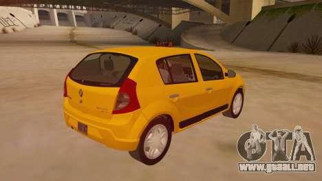 Renault Sandero Taxi para la visión correcta GTA San Andreas