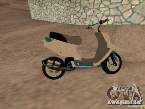 MBK Booster para GTA San Andreas vista posterior izquierda