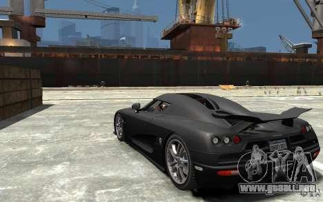 Koenigsegg CCXR Edition V1.0 para GTA 4 Vista posterior izquierda