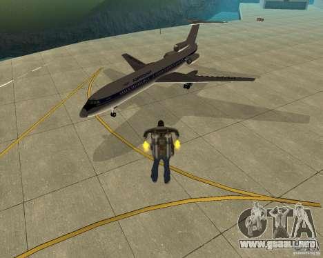 Transporte aéreo Pak para GTA San Andreas left