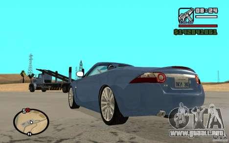 Jaguar XK Convertable para GTA San Andreas left