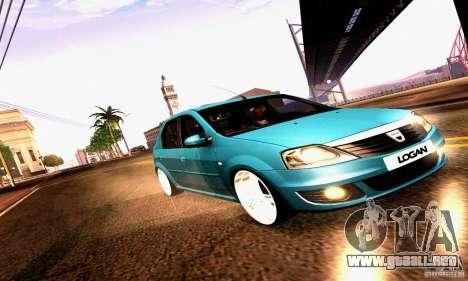 Dacia Logan 2008 para la vista superior GTA San Andreas