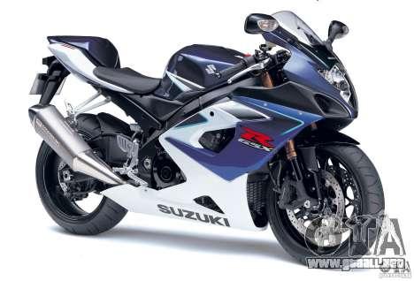 Suzuki GSX-R 1000 para GTA Vice City visión correcta