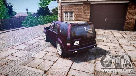 Land Rover Discovery 4 2011 para GTA 4 Vista posterior izquierda