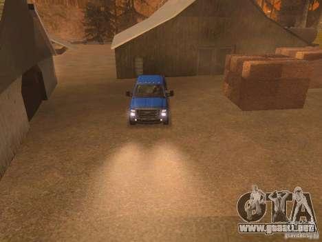 Ford F350 para GTA San Andreas interior