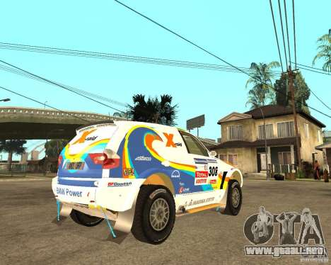 BMW X3CC X-Raid para la visión correcta GTA San Andreas