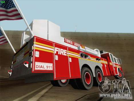 Seagrave Marauder. F.D.N.Y. Tower Ladder 186 para el motor de GTA San Andreas