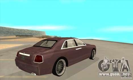 Rolls-Royce Ghost 2010 para la visión correcta GTA San Andreas