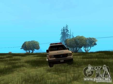 Ford E-150 NYPD Police para GTA San Andreas vista hacia atrás