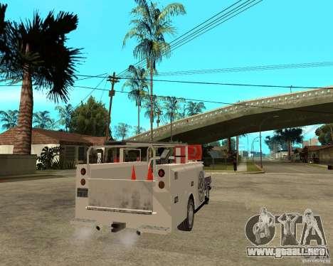 Ford F150 1992 Utility Van para GTA San Andreas vista posterior izquierda