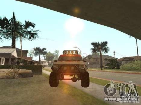 Jeep Cherokee 1984 para GTA San Andreas vista posterior izquierda
