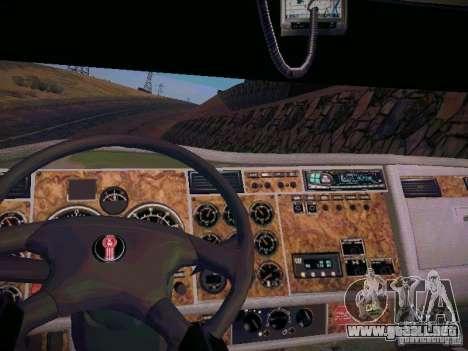 Kenworth W900 para GTA San Andreas vista hacia atrás