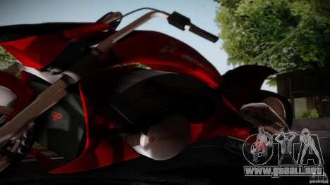 Predator Superbike para GTA San Andreas vista posterior izquierda