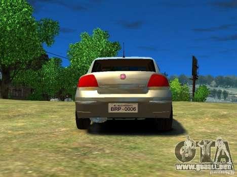 Fiat Linea para GTA 4 Vista posterior izquierda