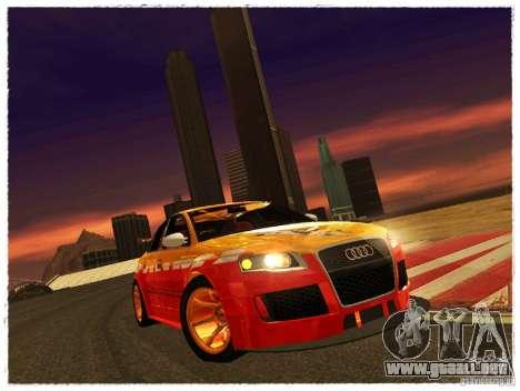 Audi RS4 Calibri-Ace para GTA San Andreas vista posterior izquierda