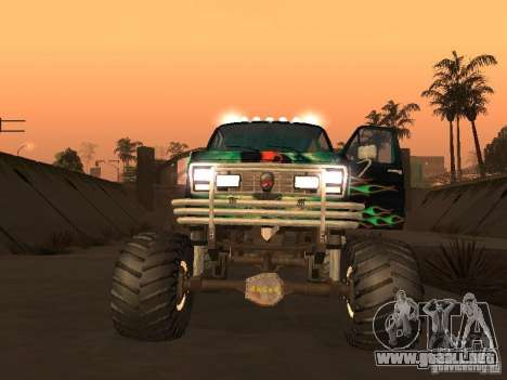 Ford Grave Digger para GTA San Andreas vista posterior izquierda