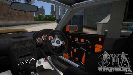Subaru Impreza WRX STi GDB Team Orange para GTA 4 vista interior
