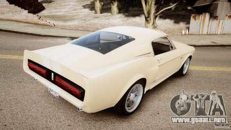 Shelby Mustang GT500 Eleanor v.1.0 Non-EPM para GTA 4 Vista posterior izquierda
