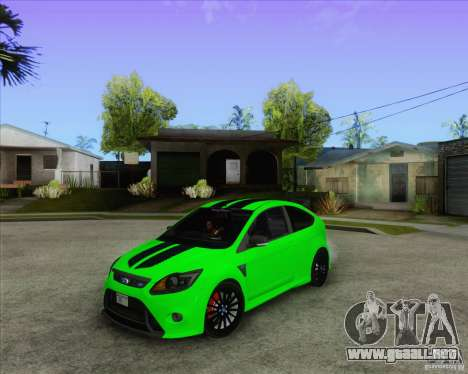 Ford Focus RS para visión interna GTA San Andreas
