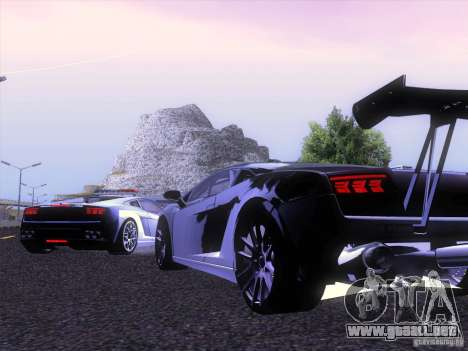 Lamborghini Gallardo Racing Street para la visión correcta GTA San Andreas