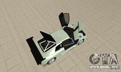 Lamborghini Murcielago R GT para GTA San Andreas vista hacia atrás
