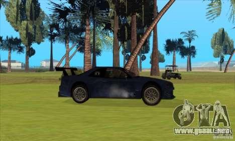 Nissan Skyline R34 GT-R LM para vista inferior GTA San Andreas