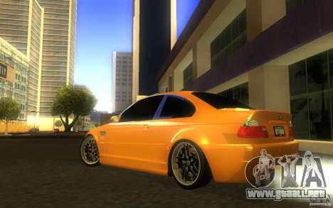 BMW M3 E46 V.I.P para la vista superior GTA San Andreas