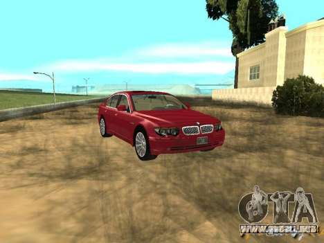 BMW 760I 2002 para GTA San Andreas vista hacia atrás