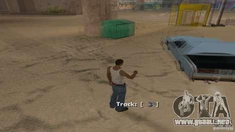 Music car v4 para GTA San Andreas sucesivamente de pantalla