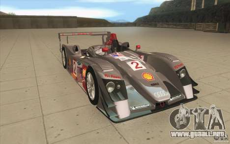 Audi R10 LeMans - Stock para GTA San Andreas vista hacia atrás
