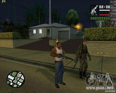 Tirar armas para GTA San Andreas
