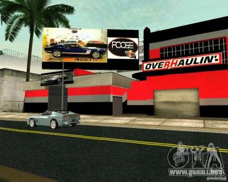 Taller de OVERHAULIN para GTA San Andreas tercera pantalla